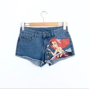 Disney Shorts - Disney Ariel Little Mermaid Denim Cutoff Shorts